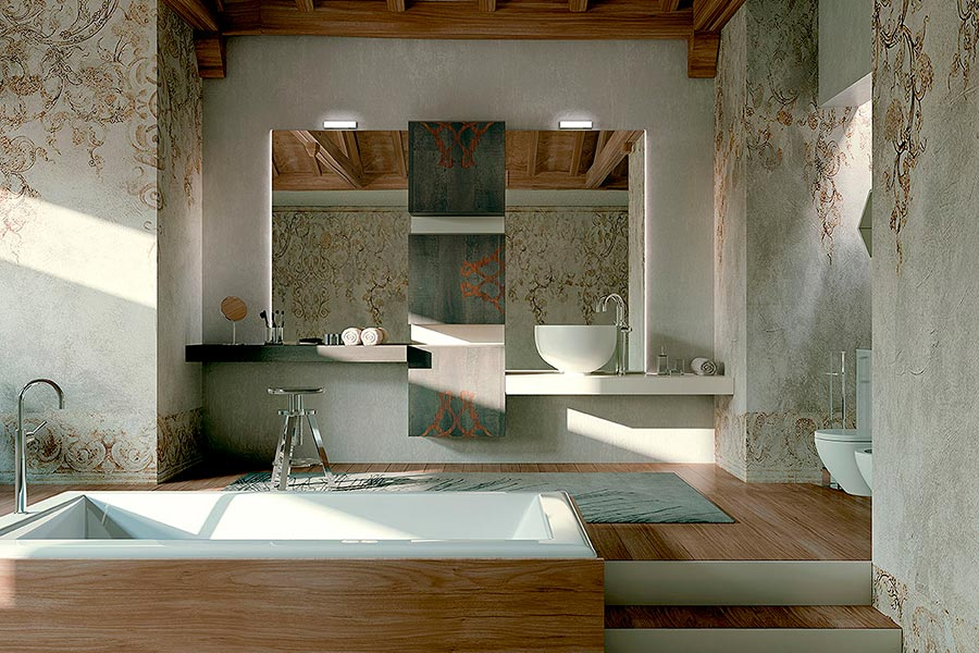 arcari arredamenti - arredamento bagno contemporaneo - Arredo Bagno Vintage