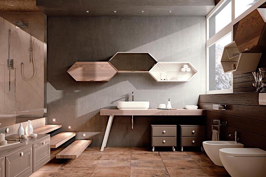 Arcari arredamenti arredamento bagno contemporaneo - Mobili bagno retro ...