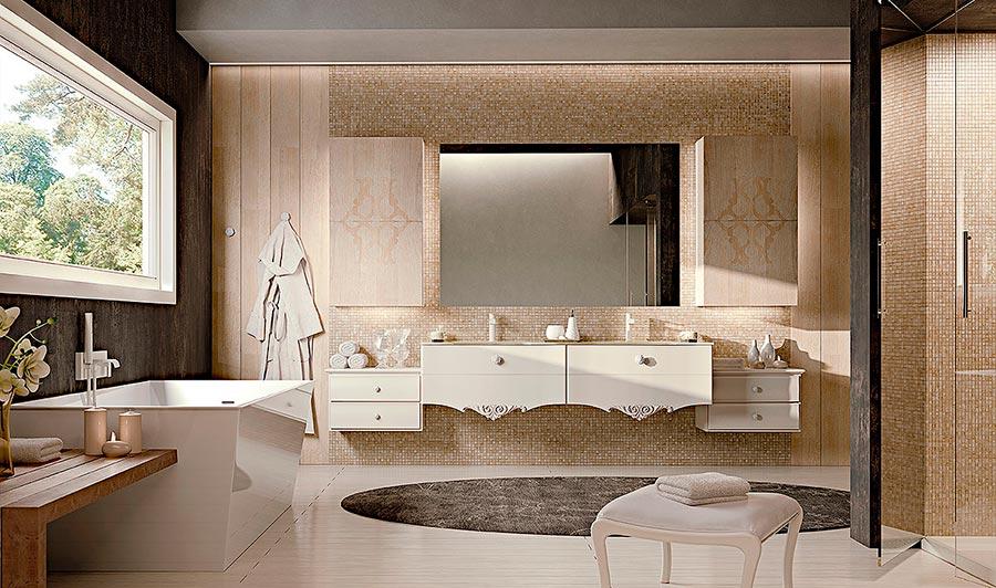 Arcari arredamenti arredamento bagno nuovo classico e for Immagini di arredo bagno