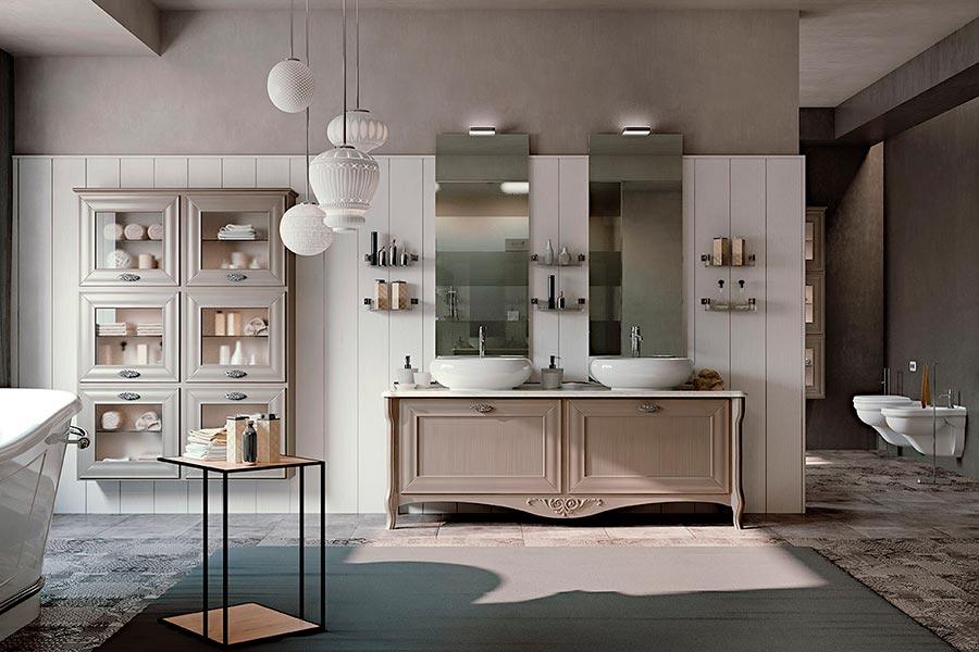Arcari arredamenti arredamento bagno nuovo classico e provenzale - Mobile bagno contemporaneo ...