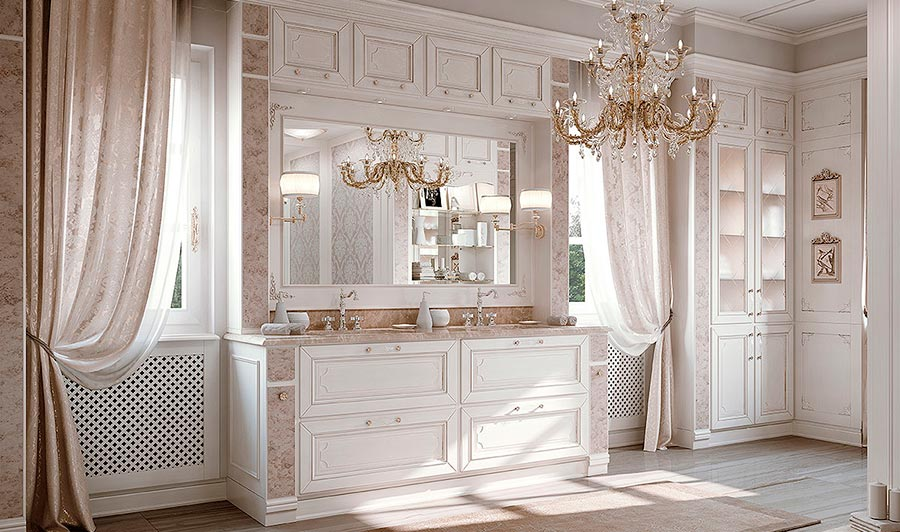 Arcari arredamenti il bagno classico elegante - Mobili per bagni classici ...