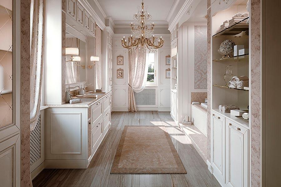 Arcari arredamenti il bagno classico elegante for Arredamento classico contemporaneo