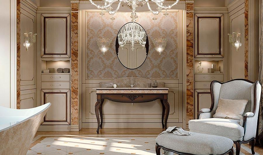 Arcari arredamenti il bagno classico di lusso - Arredi di lusso casa ...