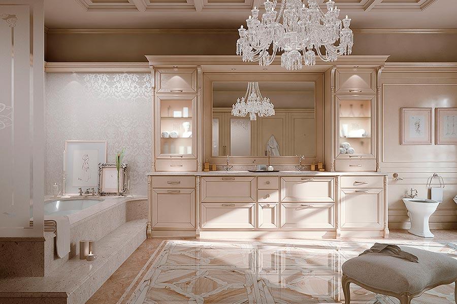 Arcari arredamenti il bagno classico di lusso for Arredamento classico lusso