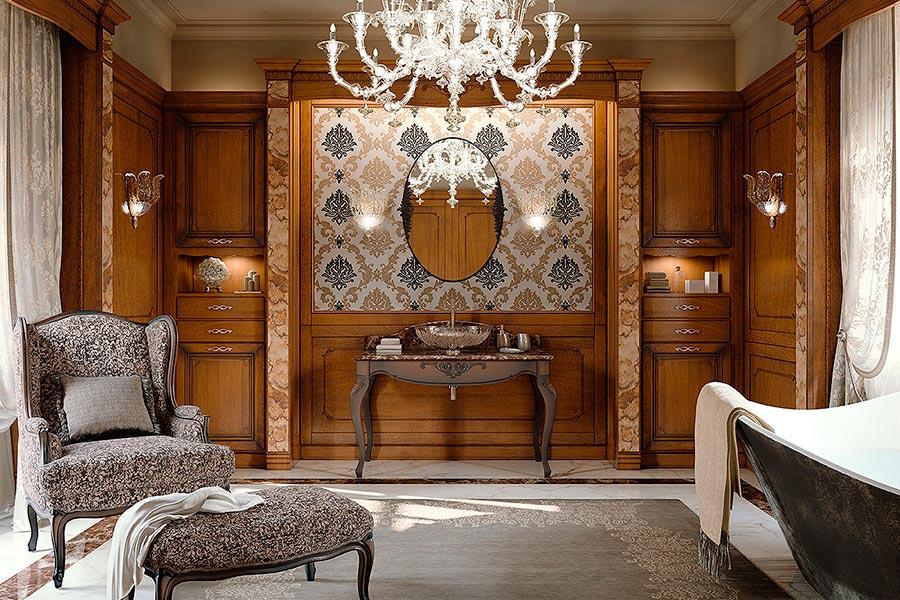 Arcari arredamenti mobili da bagno classici for Arredamento classico lusso