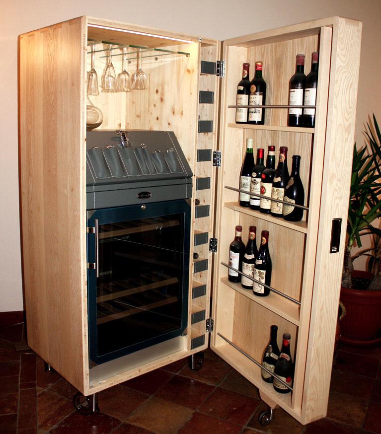 Arcari arredamenti - Cantina di vini in casa