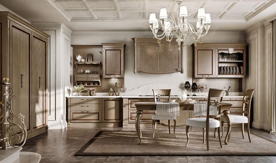 Arcari arredamenti cucine classiche di lusso for Interni case classiche